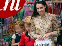 Kate Middleton con i figli in cartoleria